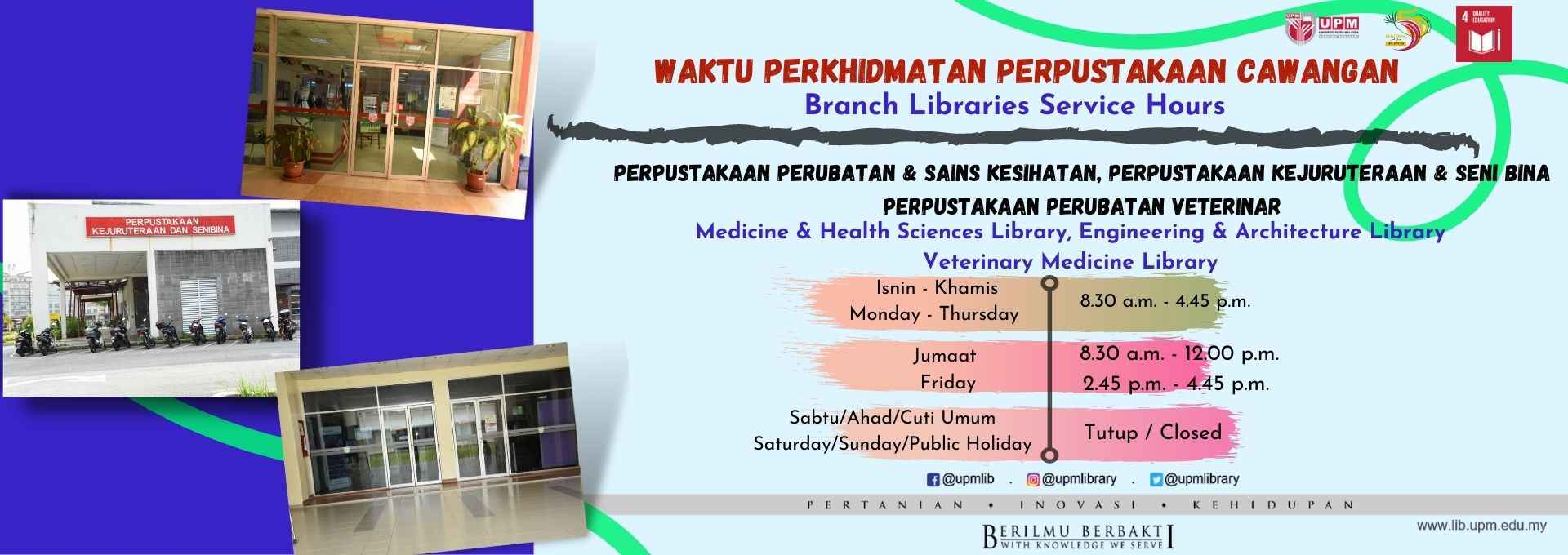 Branch Libraries Operation Hours